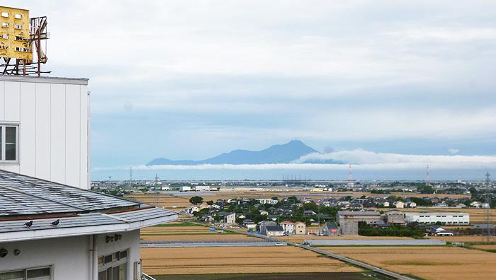画像:天気のいい日には島原が一望できます