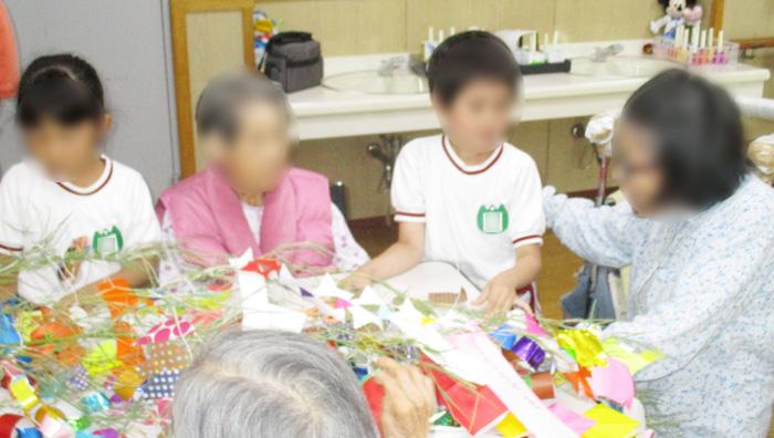 画像:七夕交流会の様子